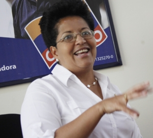Soraya Hernandez, candidate of the MUD for Monagas.