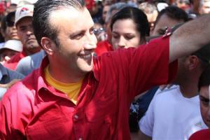 Former Interior Minister Tareck El Aissami, candidate of PSUV-GPP