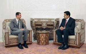 October 2009: Then Foreign Minister Nicolás Maduro meets with Syrian President Bashar Al-Assad in Damascus