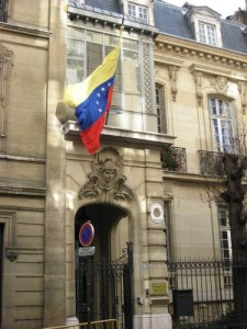 The Venezuelan embassy in Paris