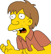 What Panfleto would look like if it was a Simpsons character