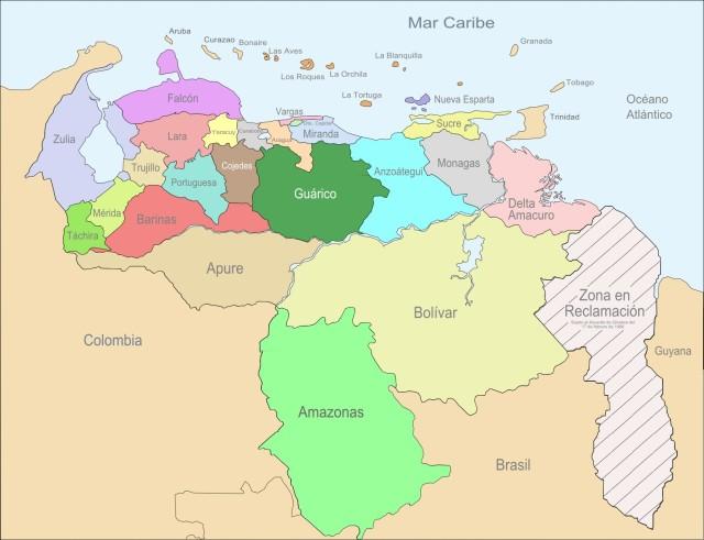 Venezuela_Division_Politica_Territorial