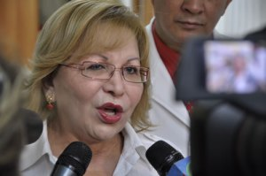Outgoing Mayor of Barquisimeto Amalia Saez