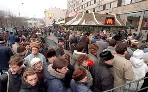 """Would you like freedom with that?"" - Moscow's First McDonald's, 1990"