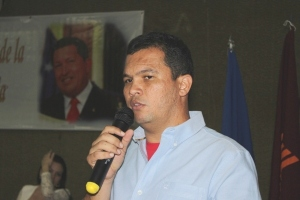 Incumbent mayor Abundio Sánchez, candidate for VBR and Juan Bimba.