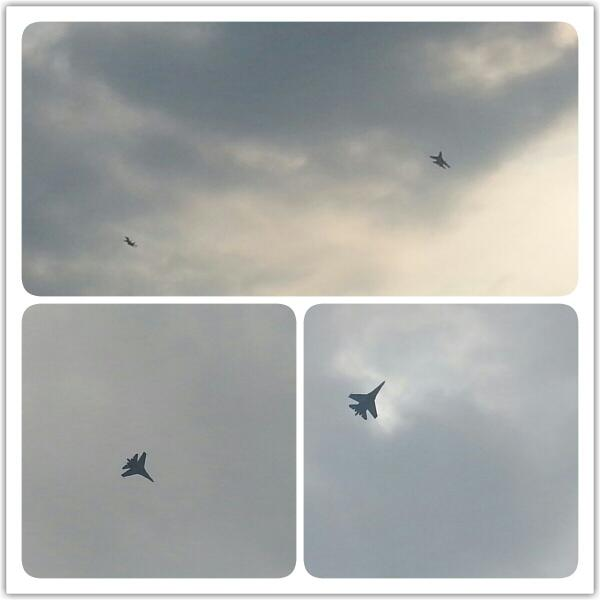 Fighter jets in the Táchira sky