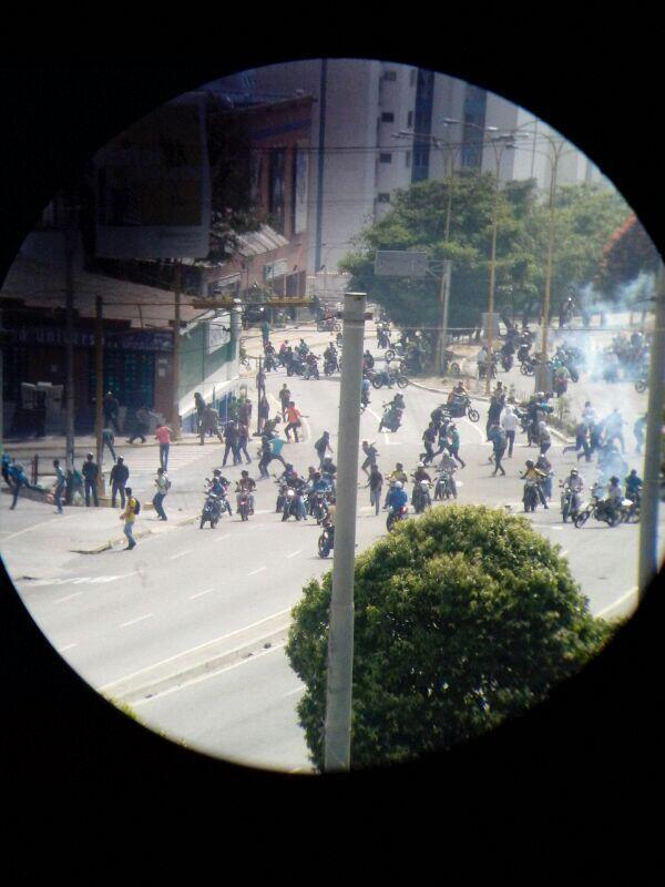 Attacks on Caracas protests
