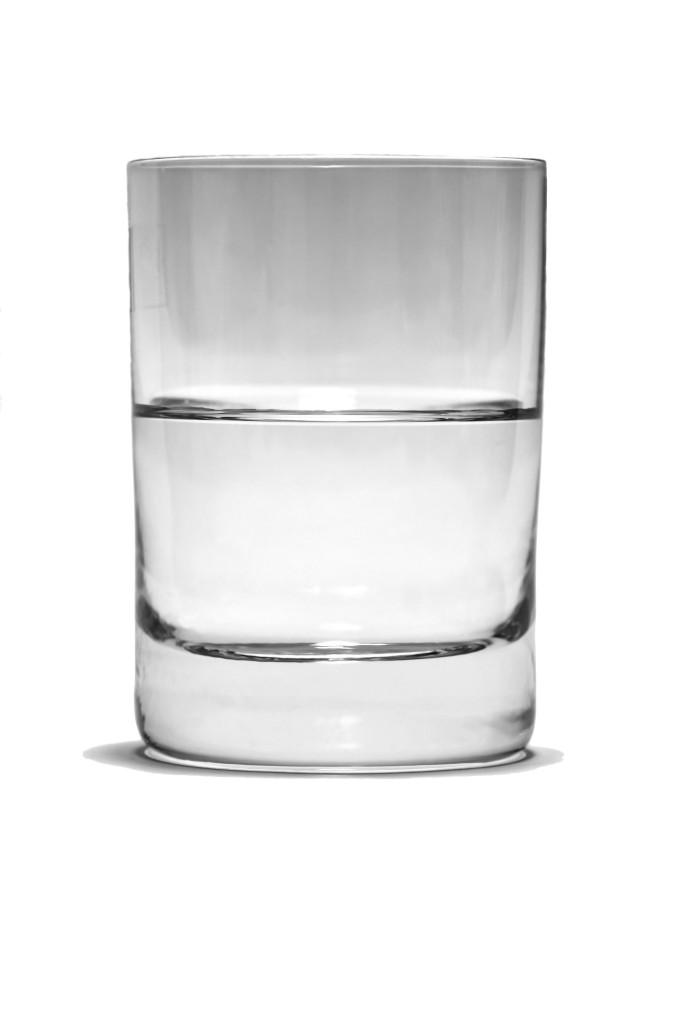 Yeah, glass half full. What a cliche.