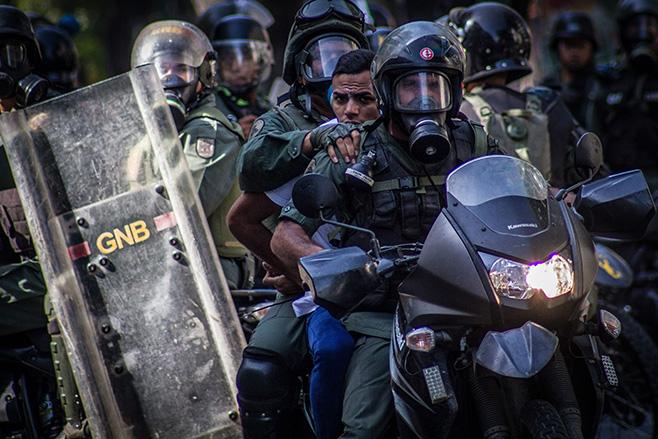 Anti-government protest in Caracas, Venezuela - 22 Mar 2014 - via AP Images