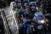 Anti-government protest in Caracas, Venezuela - 22 Mar 2014 - via AP Images