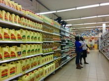 Corn oil? Do you want the 1 l. bottle, or the 5 l. jug?