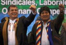 Evo Morales, Rafael Correa