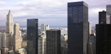 39 stories up on One Liberty Plaza (foreground on the right)