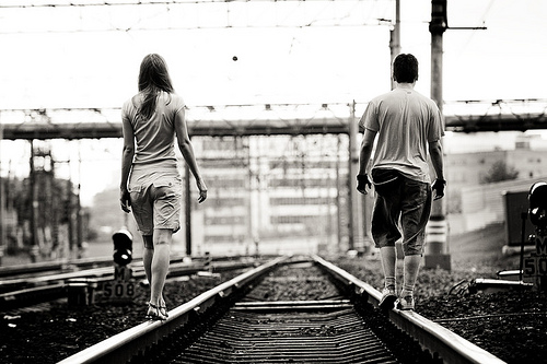 We walk the same direction but different sides of the road...Ìû