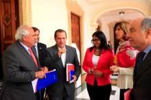 Venezuelan Foreign Minister Delcy Rodríguez, all smiles